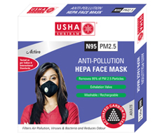 Anti-Pollution HEPA Face Mask (Activo)